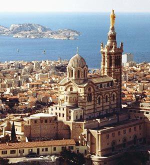 Notre-Dame de la Garde in Marseille, Provence, France