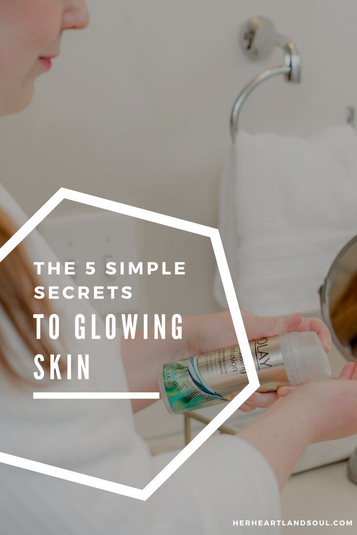 I'm sharing my 5 top tips for how to get glowing skin. Up your skincare routine and glow from the inside out. #beauty #glowingskin #skincare