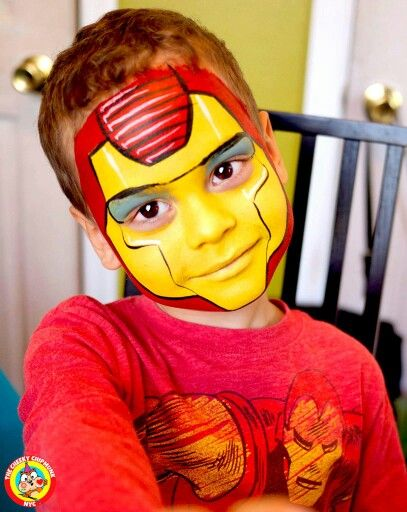 Lenore Koppelman's version of Iron Man. All in Global brand face paints - so vibrant! Love the Cheeky Chipmunk :-)