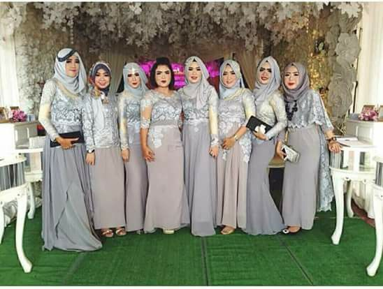 Hijabi bridesmaid dress