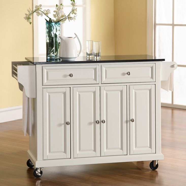 Have to have it. Solid Black Granite Top Kitchen Cart/Island $429.00