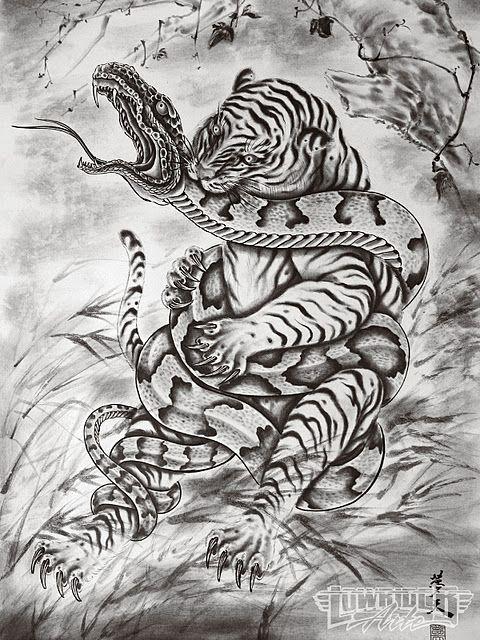 25 exemplos de lindos desenhos e tatuagens orientais com samurais, carrancas, dragões e tigres para os aficionados pela arte oriental da tatuagem.