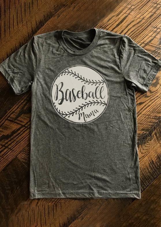#Valentines #AdoreWe #Fairy Season - #Baseball Baseball Mama O-Neck Short Sleeve T-Shirt - AdoreWe.com