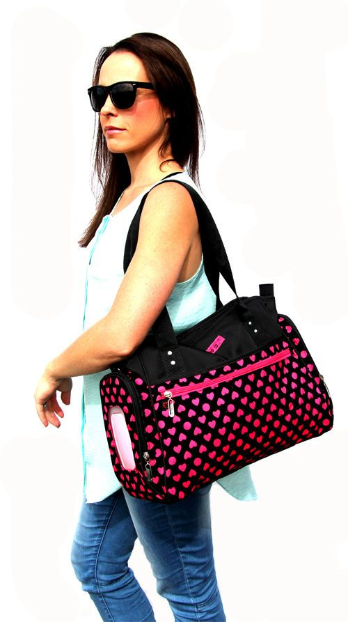 Black & Pink Fashion Carry Diaper Baby Nappy Bag (free Wipe Case And Change Mat) in Baby, Nappies, Bags | eBay