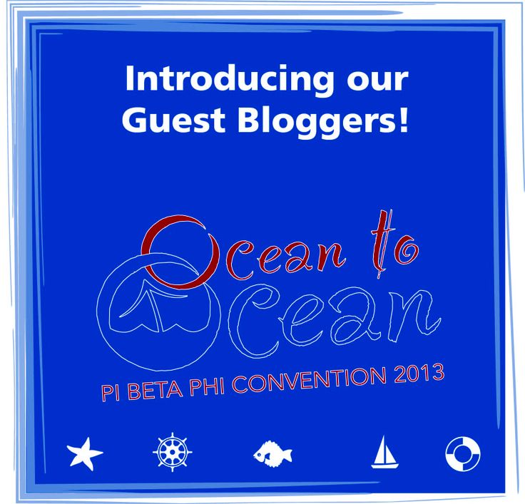 Check out the blog to read more about our three guest bloggers! And don't forget to follow along with them during convention at www.piphiblog.org!