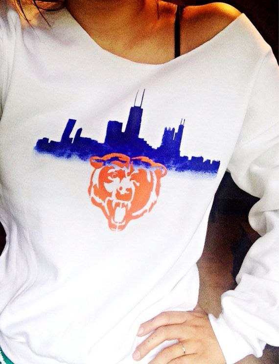 Chicago Bears Sweatshirt Women's NFL Bears Top by TheBohipstian