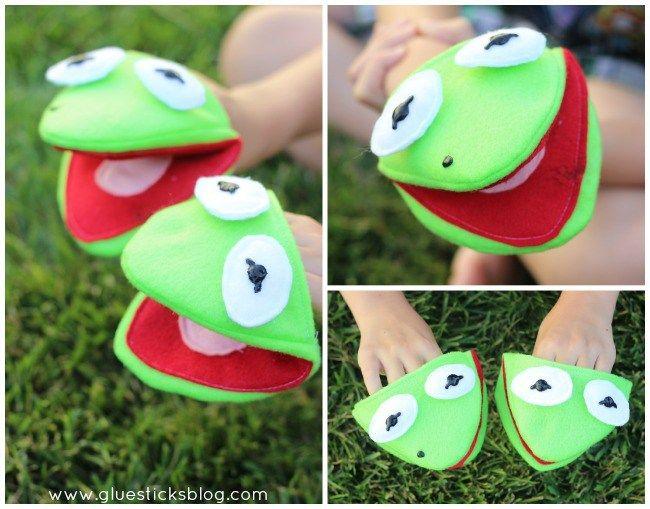 Kermit the Frog Puppet Pattern | Gluesticks