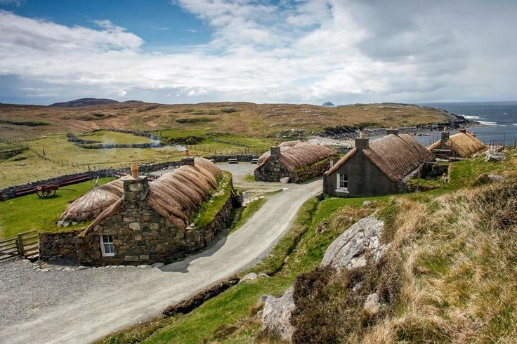 Taigh Dhonnchaidh, Gearrannan Blackhouse Village, Isle of Lewis. | These traditional thatched Hebridean blackhouses date back several centuries, and were occupied by crofters until the 1970s. The largest cottage has been converted into a hostel for ten people, with cosy bunkbeds that you can book for just £15 a night.