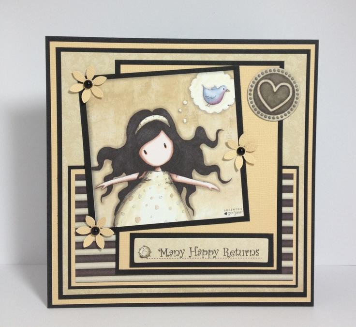 Card made using a Gorjuss topper sheet 2013