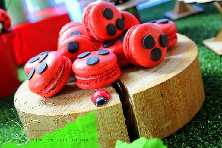 Macaroons #Ladybug #1stBirthday #DessertTable