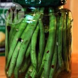 Photo recette : Conserves de haricots verts croquants marinés