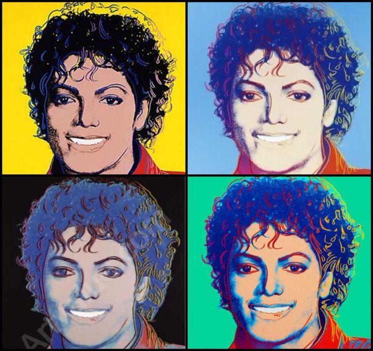 Michael Jackson by pop art legend Andy Warhol. #Art #MichaelJackson #Music #