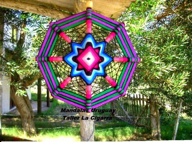 Mandalas Uruguay: Mandala Atrapasueños - Artesanía tejida en lana so...