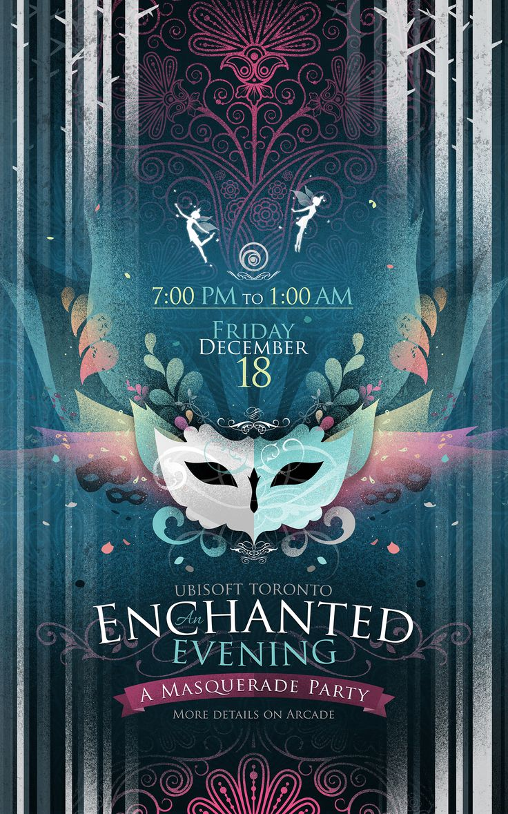 Poster for the Masquerade Party at Ubisoft Toronto 2015.