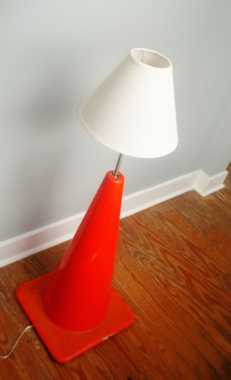 Made This Traffic Cone Lamp For My Little Brothers Construction Themed Bedroom Fyi The Broth Boys Construction Room Construction Bedroom Boys Room Decor