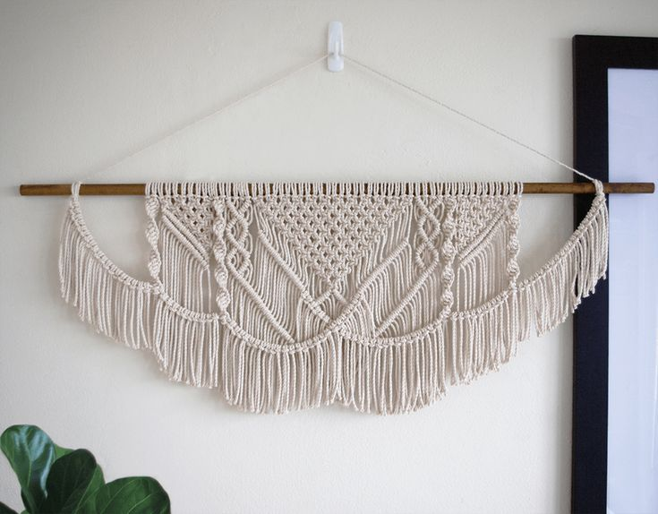 Belle | One of a kind handmade Macramé wall hanging by Macramé Mons. One piece revealed each fortnight on a Monday ✖️
