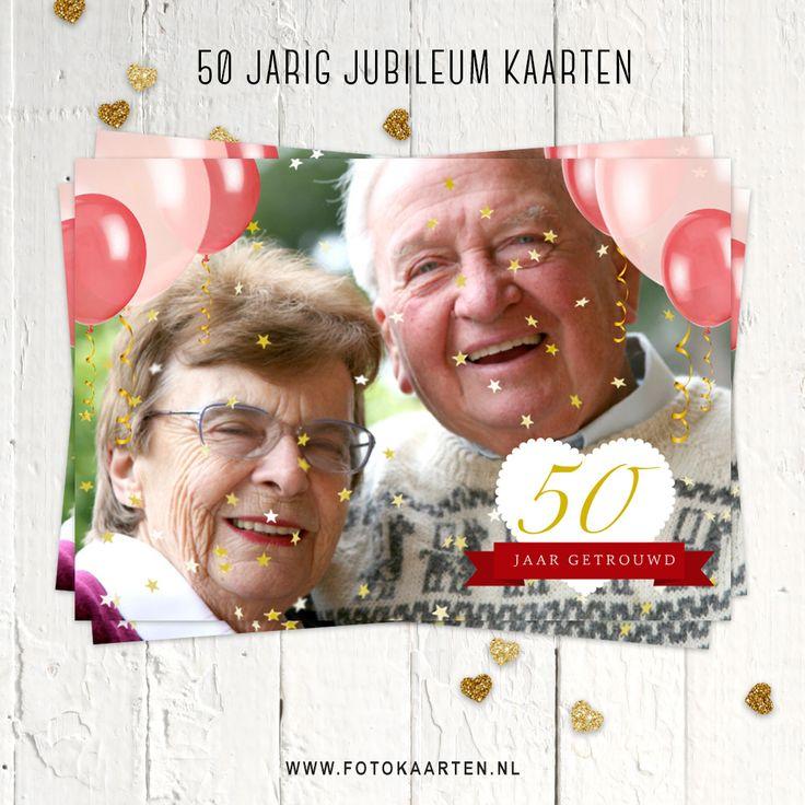 Zijn je opa en oma of vader en moeder 50 jaar samen? Dan wordt het tijd voor een feestje. Je kunt bij Fotokaarten bijzondere uitnodigingen maken met eigen foto. Versieren en klaar ben je. www.fotokaarten.nl