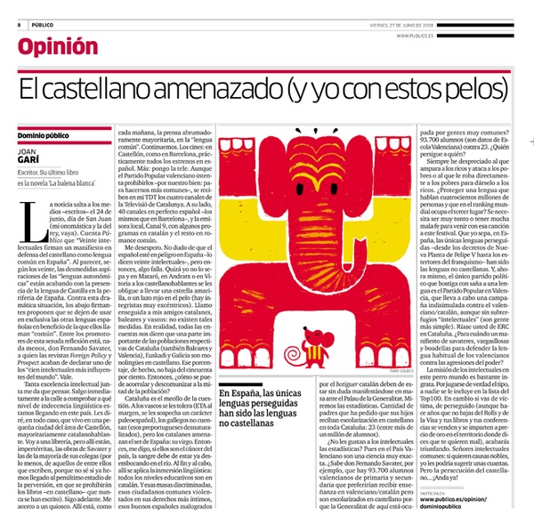 Does the catalan language threaten the spanish language? by Ivan Solbes, via Behance