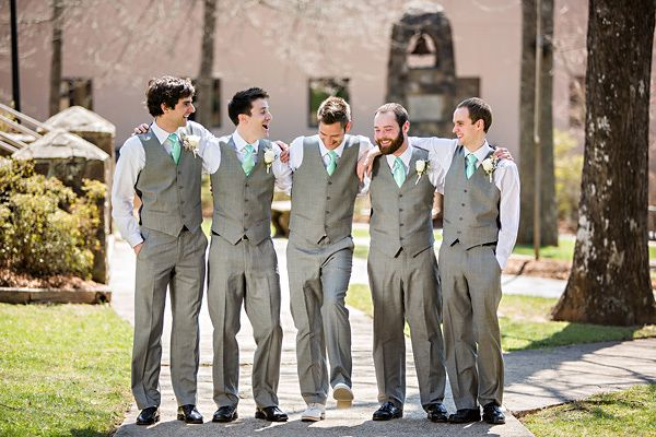 love these grey groomsman looks