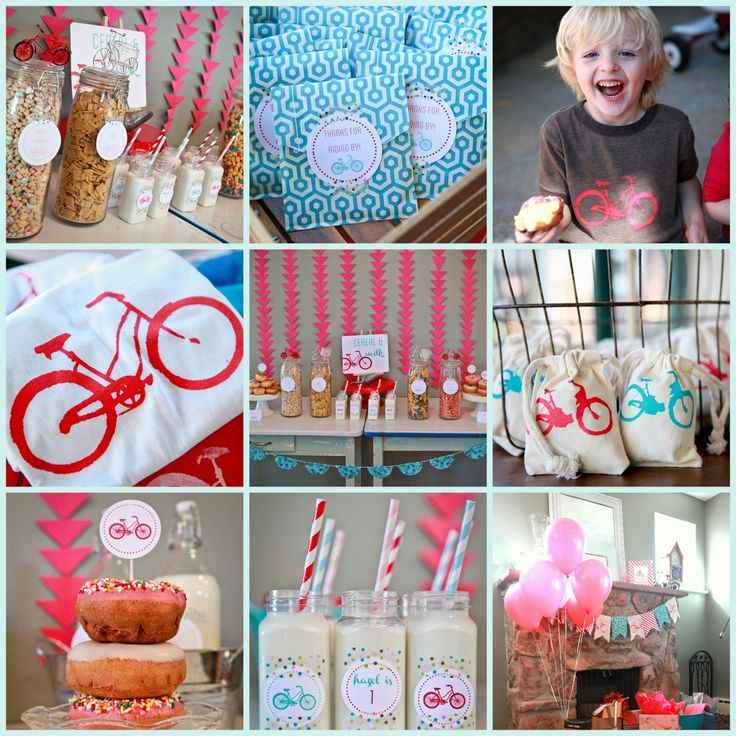 Cutest how-to ideas EVER for a children's #bicycle birthday party!