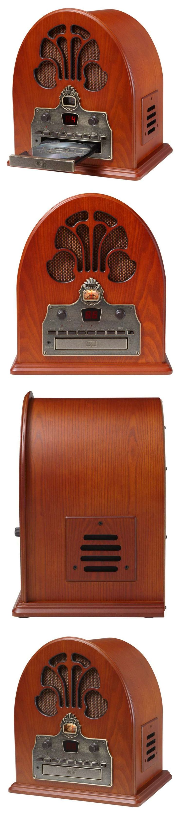 Radio Tuners: Retro Radio Fm/Am Cd Player Vintage 1930S Style Full-Range Stereo Analog Tuner BUY IT NOW ONLY: $119.25