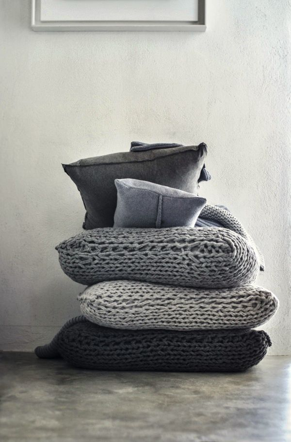 Inspired Places... To Read Part 6E of 6 'Cosy Things Up' ... 173 Plush 'Knitted European Pillow Covers' http://fuerzainternational.blogspot.com.au/2014/04/inspired-places-to-read-part-6e-of-6.html