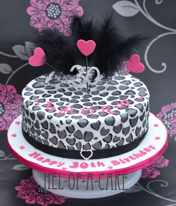 Hand painted leopard print cake by www.facebook.com/hel-of-a-cake