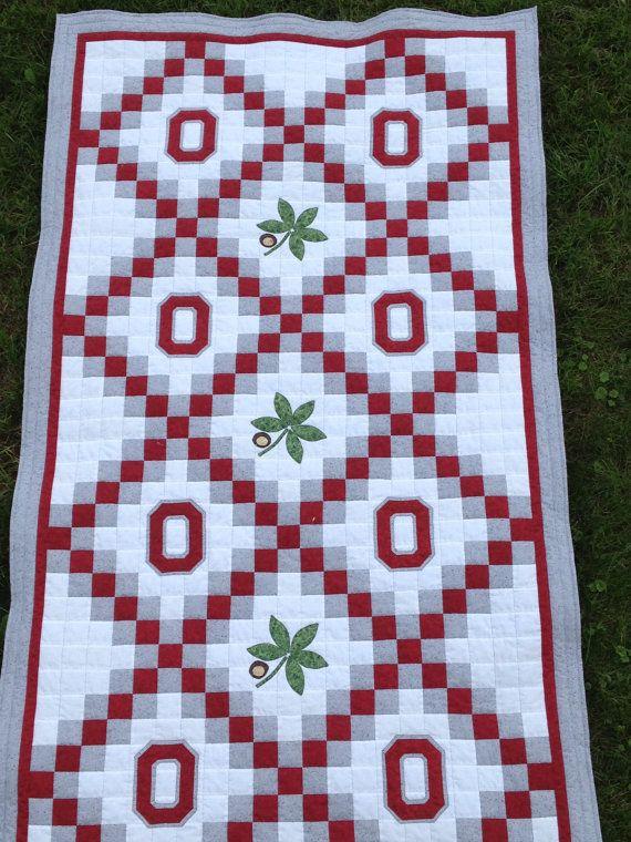 Ohio State Buckeyes  OSU Twin or Throw Sized by MidWestThreadsOhio, $175.00