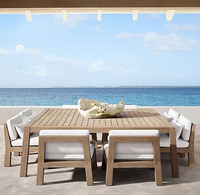 Bonaire Square Low Dining Table In 2020 Modern Outdoor Furniture