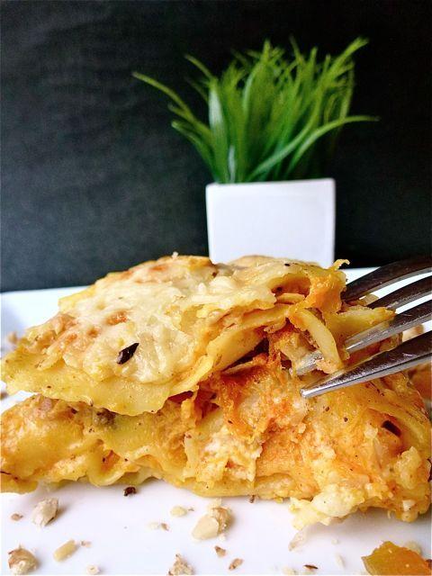 Lasagnes  à la courge butternut, chèvre, noisettes - 1