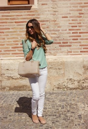 romwe  Shirt / Blouses, Furla  Bags and Blanco  Flats