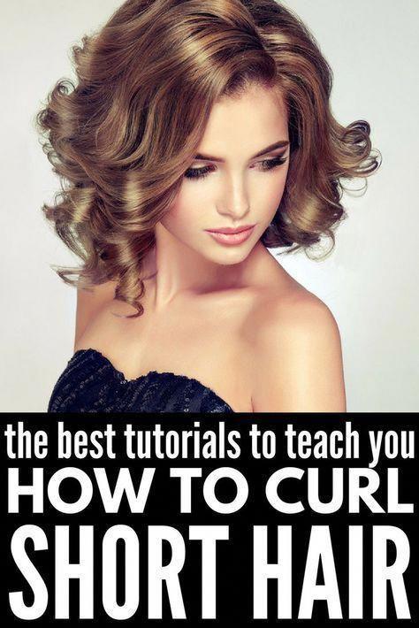 Kurzes Haar locken | Wenn Sie wissen möchten, wie man kurze Haare mit einem Lockenstab, mit einem Glätteisen / Glätteisen, mit einem Zauberstab oder am besten mit ...