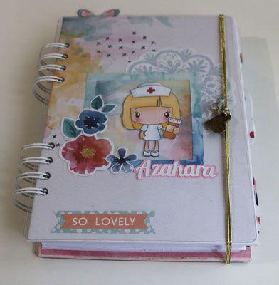 hola, una linda agenda personalizada.😍 scrapbooking www.ilusionesdetrapo.wordpress.com
