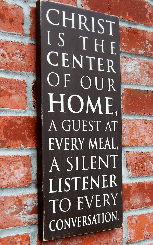 center of our homeDecor, Dining Room, Remember This, Inspiration, God, Subway Art, House Scriptures, Christ Center Home, Our House Quotes