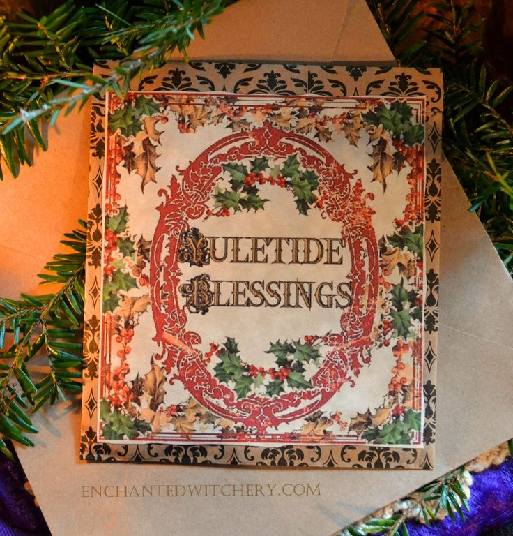 The 15 best winter solstice yule images on pinterest winter yule greetings yule winter solstice greeting card sachet pagan greetings for the holiday season m4hsunfo