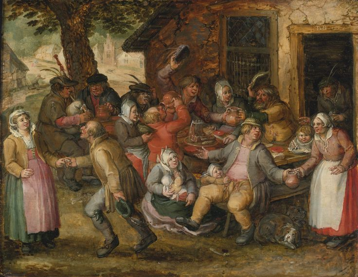 David Vinckboons | Lot | Sotheby's. Peasant Feast, dated 1606.