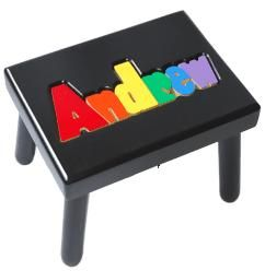 Black Name Puzzle Stool (8 letters maximum) :: For That Occasion