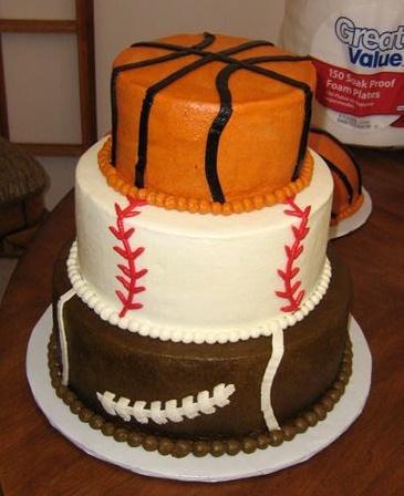Enjoyable Sports Themed Cakes Slubne Suknie Info Personalised Birthday Cards Akebfashionlily Jamesorg