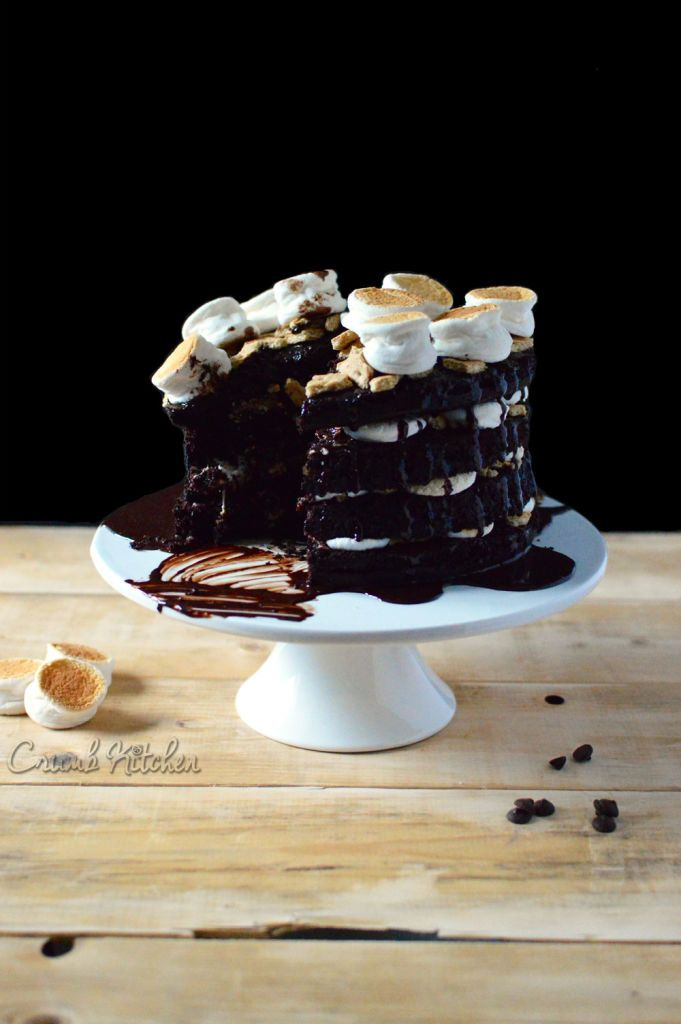 Decadent S'mores Layer Cake | Crumb Kitchen