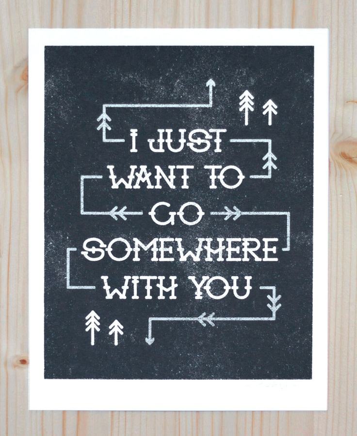 Somewhere With You Print by thesibilingshop on etsy