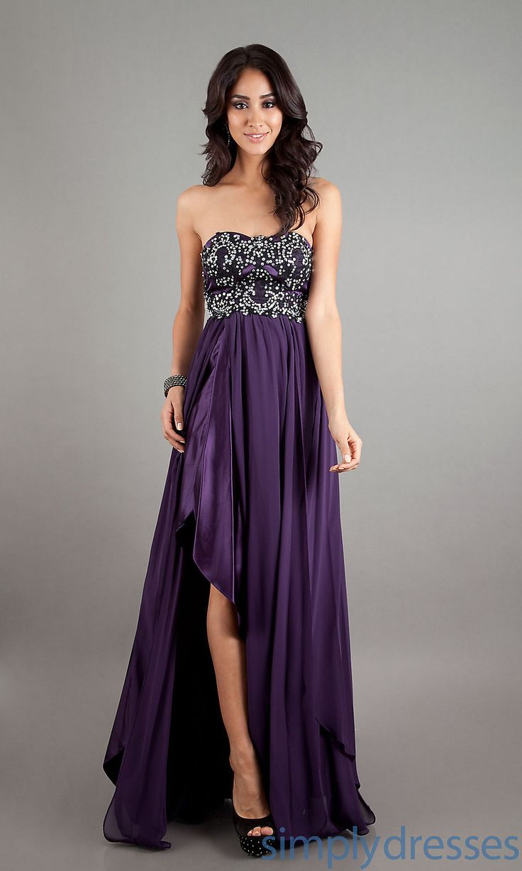 PLUM DRESSES | Strapless Silver Long Dress, Long Formal Dresses - Simply Dresses