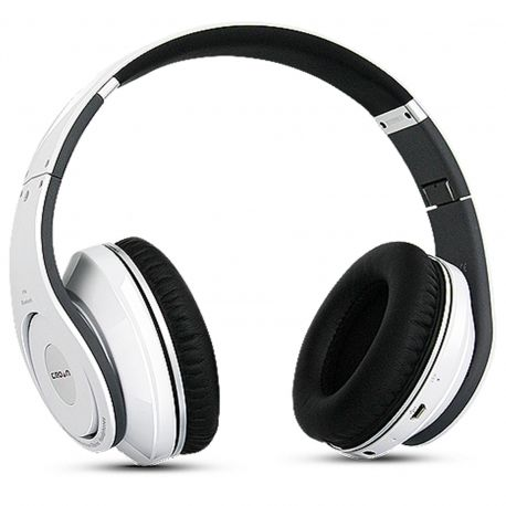 White CMBH-9299 Wireless Bluetooth Headphones with FM Receiver