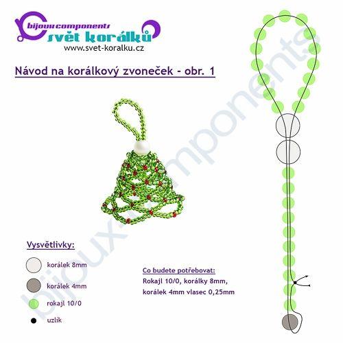 Šitý zvoneček - Svět Korálků - korálky, swarovski, stříbrné komponenty