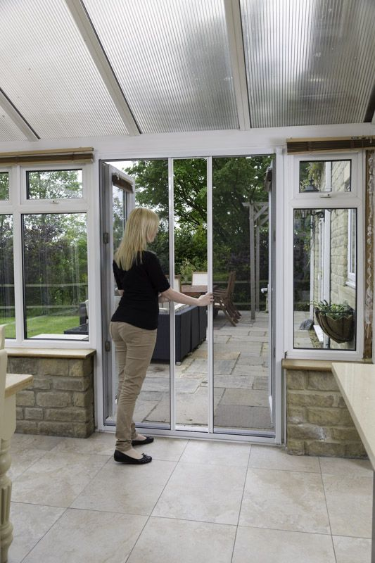 When Our Double Door Screens Are Fitted The Screens Pull Together To Form  An Insect Proof