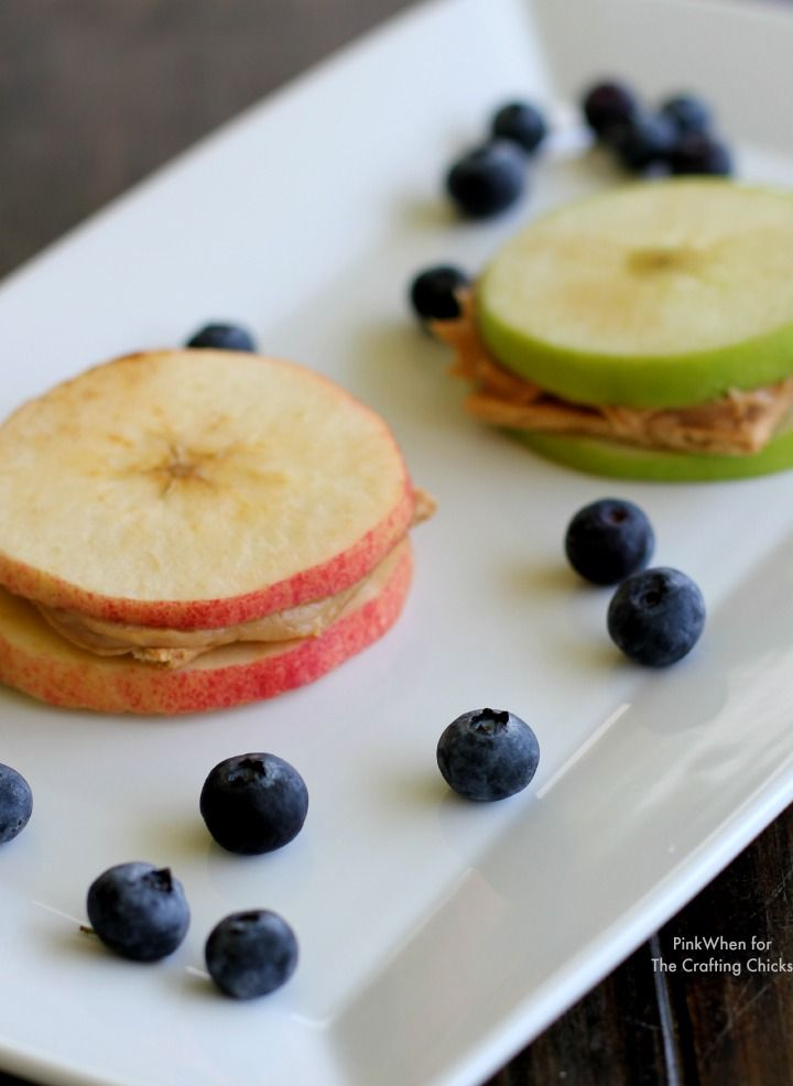 Apple Sandwich Snacks - great for camping!