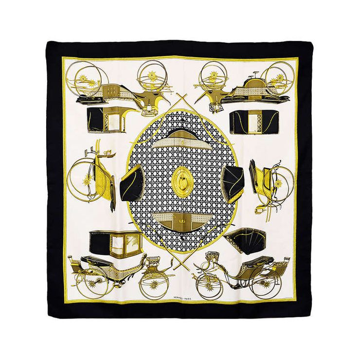 Beautiful Hermes Transportation Silk Scarf   From a collection of rare vintage scarves at https://www.1stdibs.com/fashion/accessories/scarves/