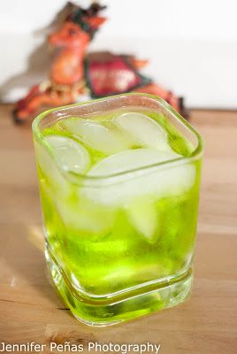 Vanilla Vixen     (1 oz vanilla vodka  2 oz citrus vodka  1 oz Midori  1/2 oz lime juice)