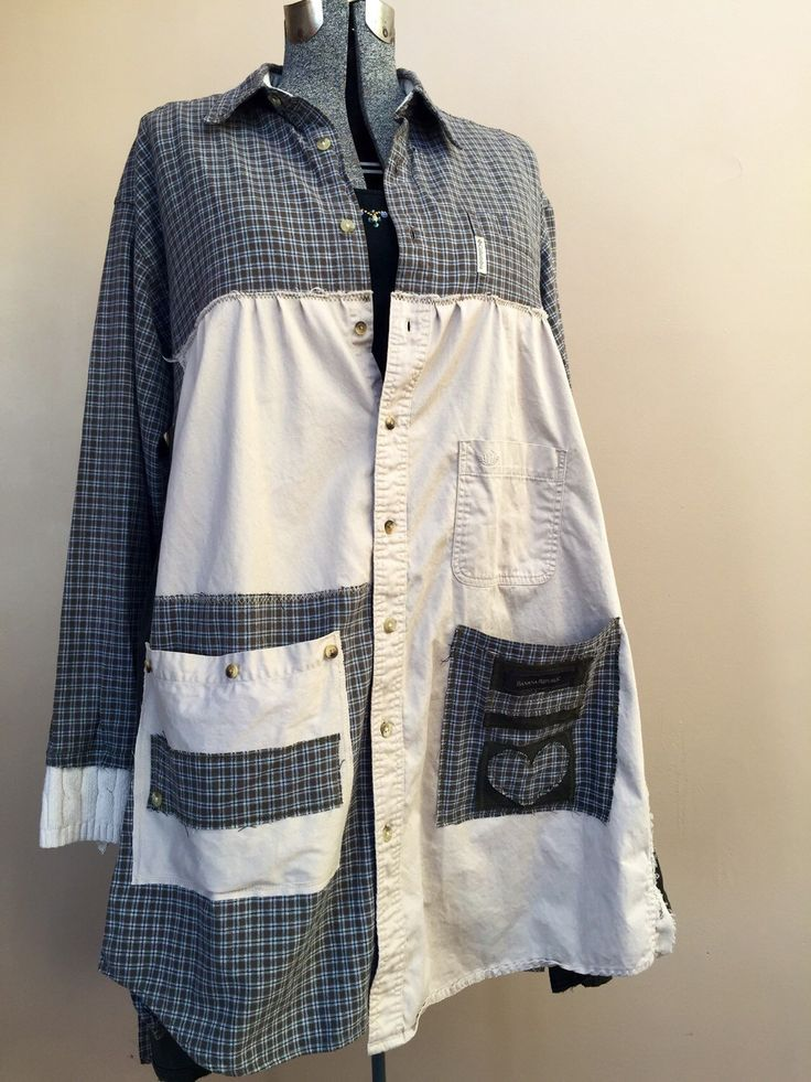 RESERVED-XXL Upcycled Reconstructed Duster Coat / Patchwork Gypsy Coat