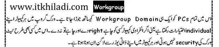 workgroup in urdu