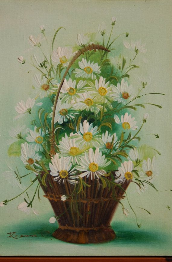 Daisies, Oil paintings and Daisy painting on Pinterest
